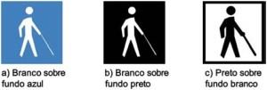 símbolo internacional de pessoas com deficiência visual