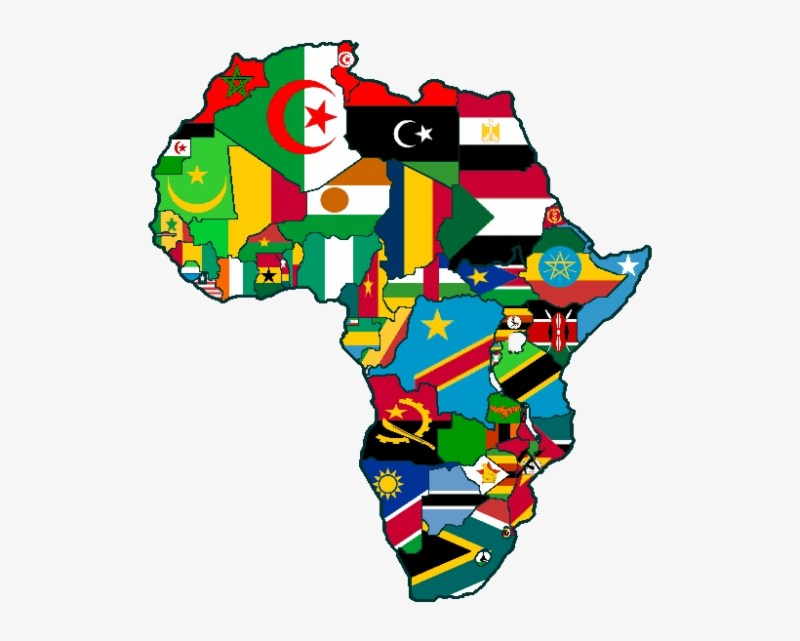 Africa Covered in Flags