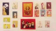 Telas sem moldura, Acrílica, aquarela e Esmalte s/ tela 10x 15 cm . 2017. R$ 100,00 (cada)