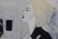 Madonna Frames Acrílica, Glitter e Esmalte s/ papel colorplus metalizado 18 x 13 cm. RS 120,00