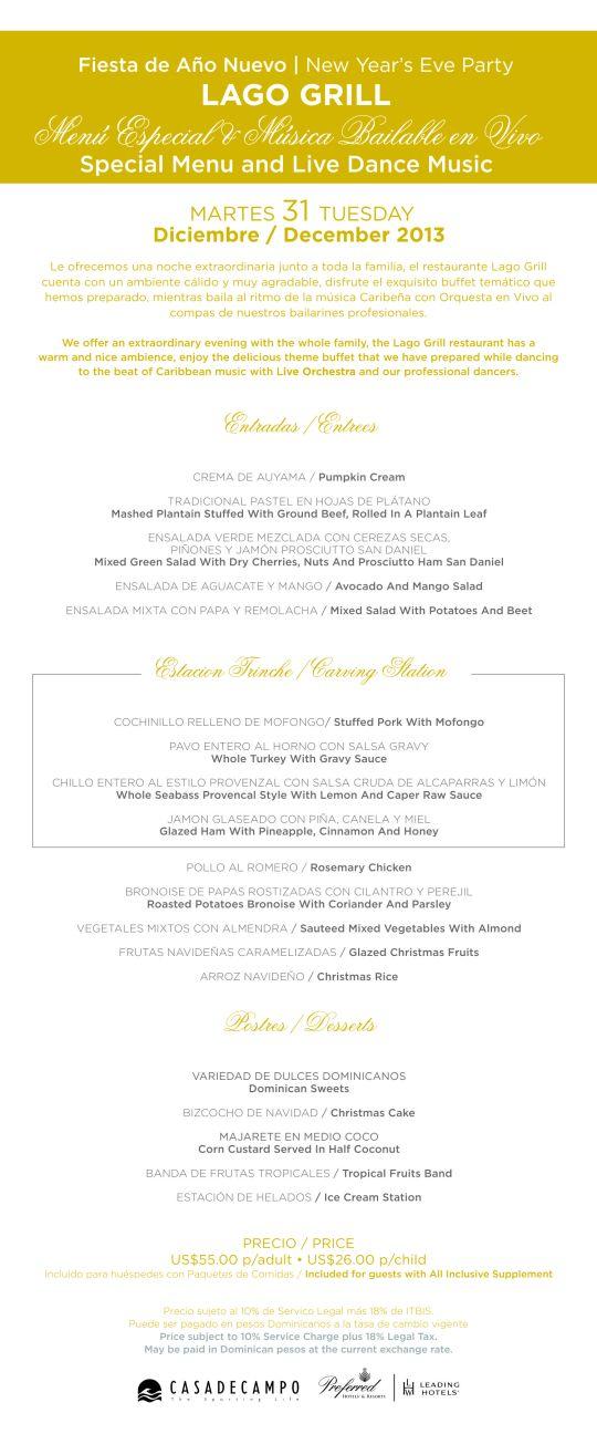2013 menu