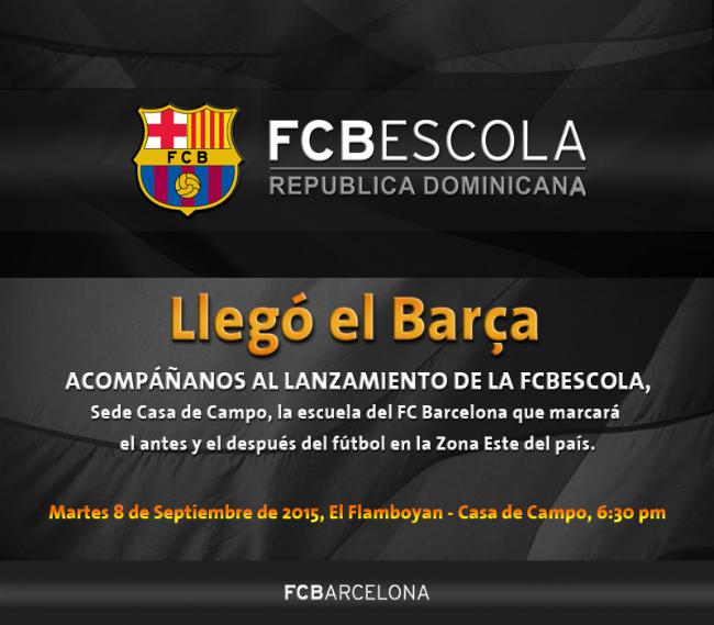 Invitacion FCBEscola Casa de Campo