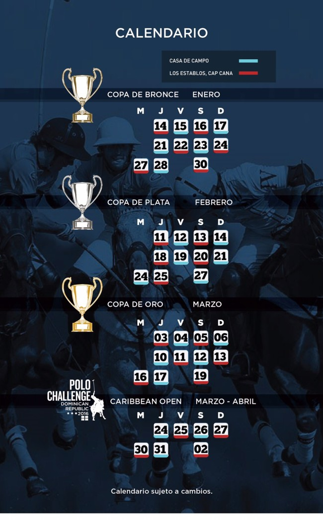 Polo Challenge 2016 Schedule