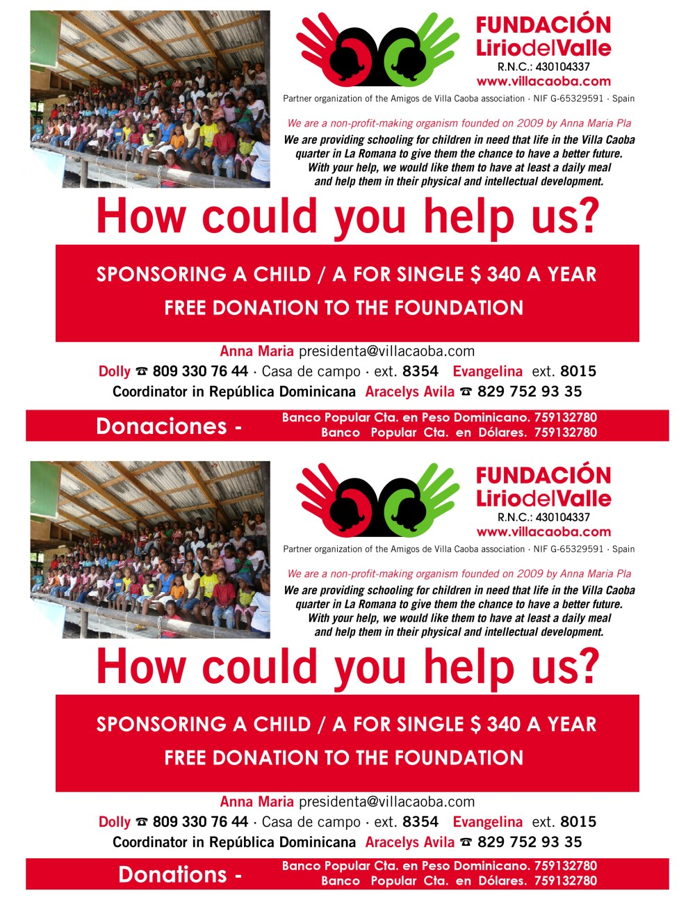 Fundación Lirio del Valle How You Can Help