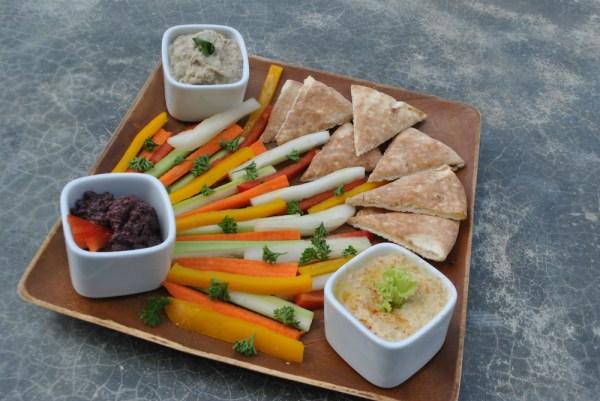 Crudite Spring Dishes in Fresh Fresh