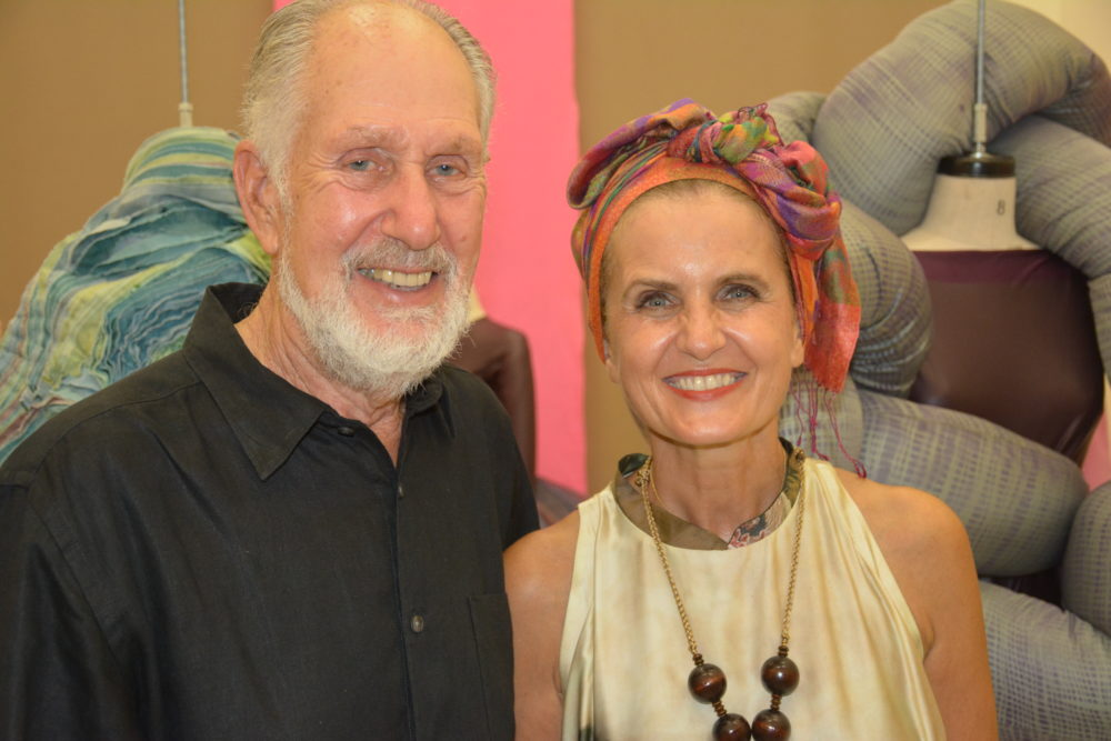 Stephen Kaplan, Director of Altos de Chavón, with Marina Spadafora, Director of the Fashion Program