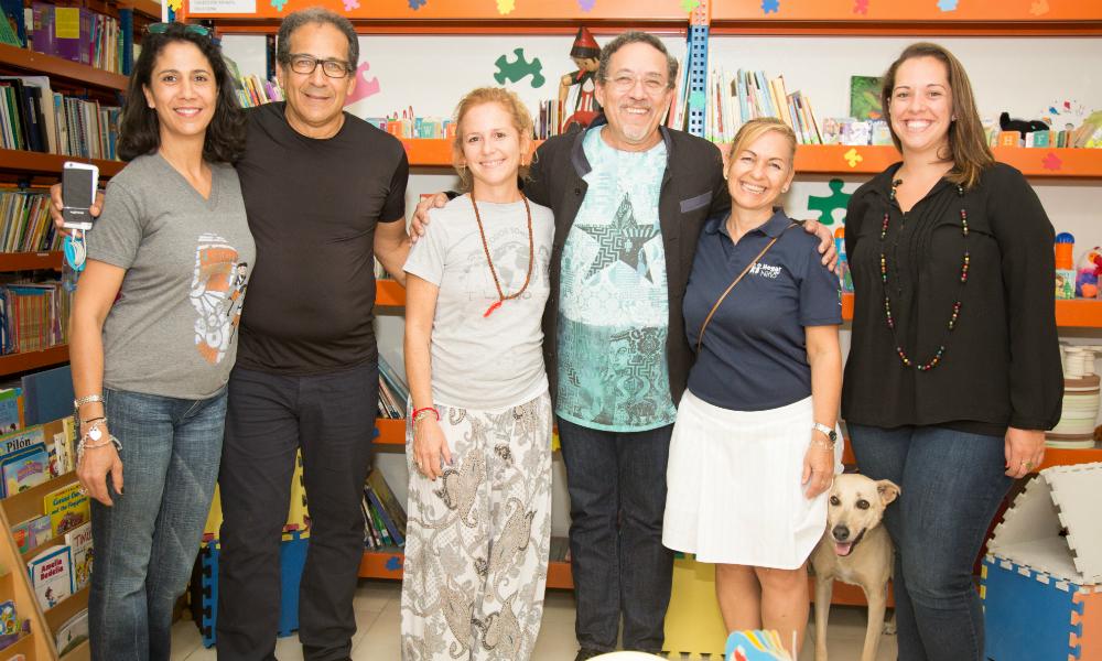 Edouard Dival Carrie with Sandra Alvarado Xioma Menendez and Carla Campos