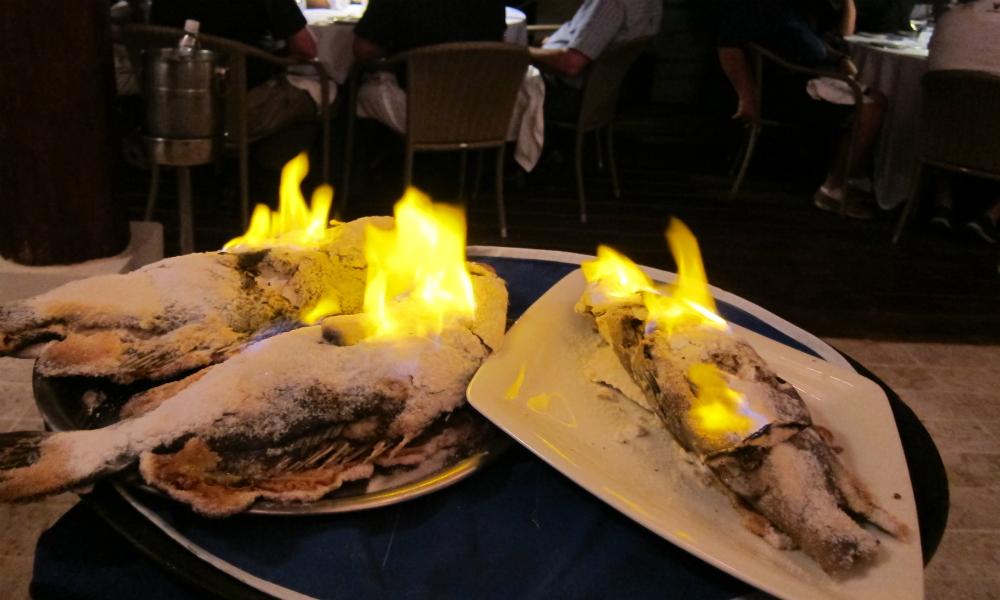 Salt Encrusted Fish at Casita