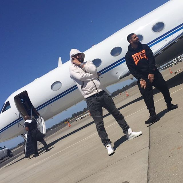 French Montana and Drake at the Airport