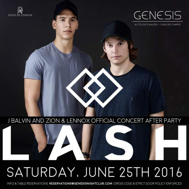Lash J Balvin and Zion y Lenox Afterparty