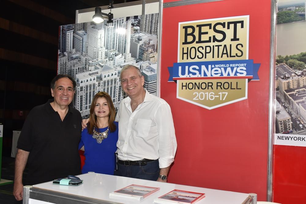 Dr. Frank A. Chevernak, Nancy Velazquez, Dr. Isaac Kligman.