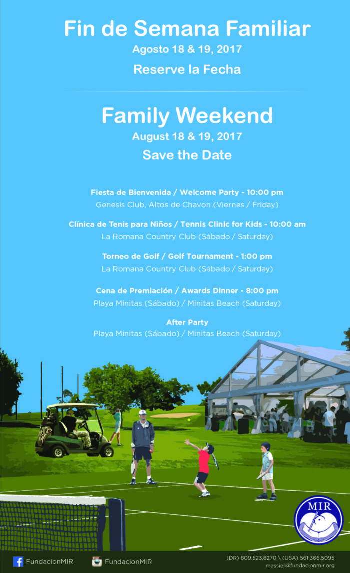 Save-the-date Fundación MIR Family Weekend 2017