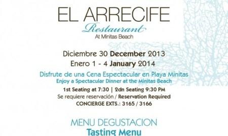 arrecife menu at minitas