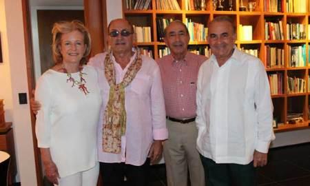Patricia Cisneros, Gianfranco Fini, Alfonso Paniagua, Gustavo Cisneros