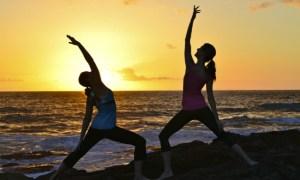 Yoga at the Beach Couple