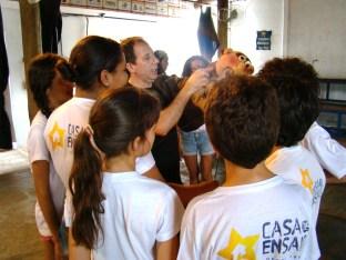 Casa recebe grupo de teatro A turma do Dionísio de Santo Ângelo - RS
