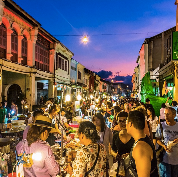 No Destinations go to the Night Markets in Puket's Old Town