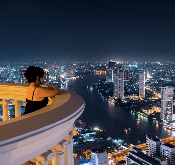 No Destinations, enjoying the views from the top of Bangkok! Pic source: @nodestinations / Instagram