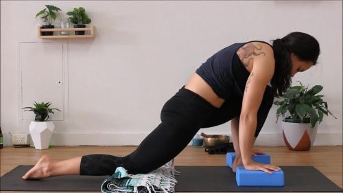 yoga for flexibility - dragon pose