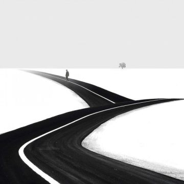 minimalist black white photography -Hossein Zare