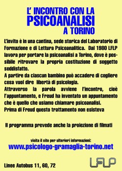 Psicoanalisi Flyer Retro