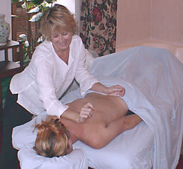In room massage
