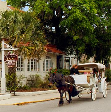 Horse Carriage outside Casa de Suenos