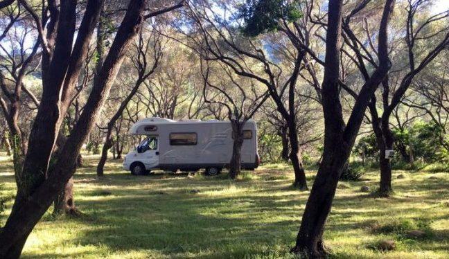 Le camping Casa Di Luna à Galéria offre de grands emplacements pour les camping-cars