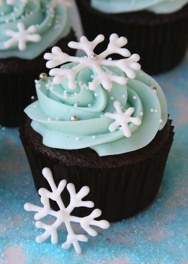 Cupcake de floco de neve