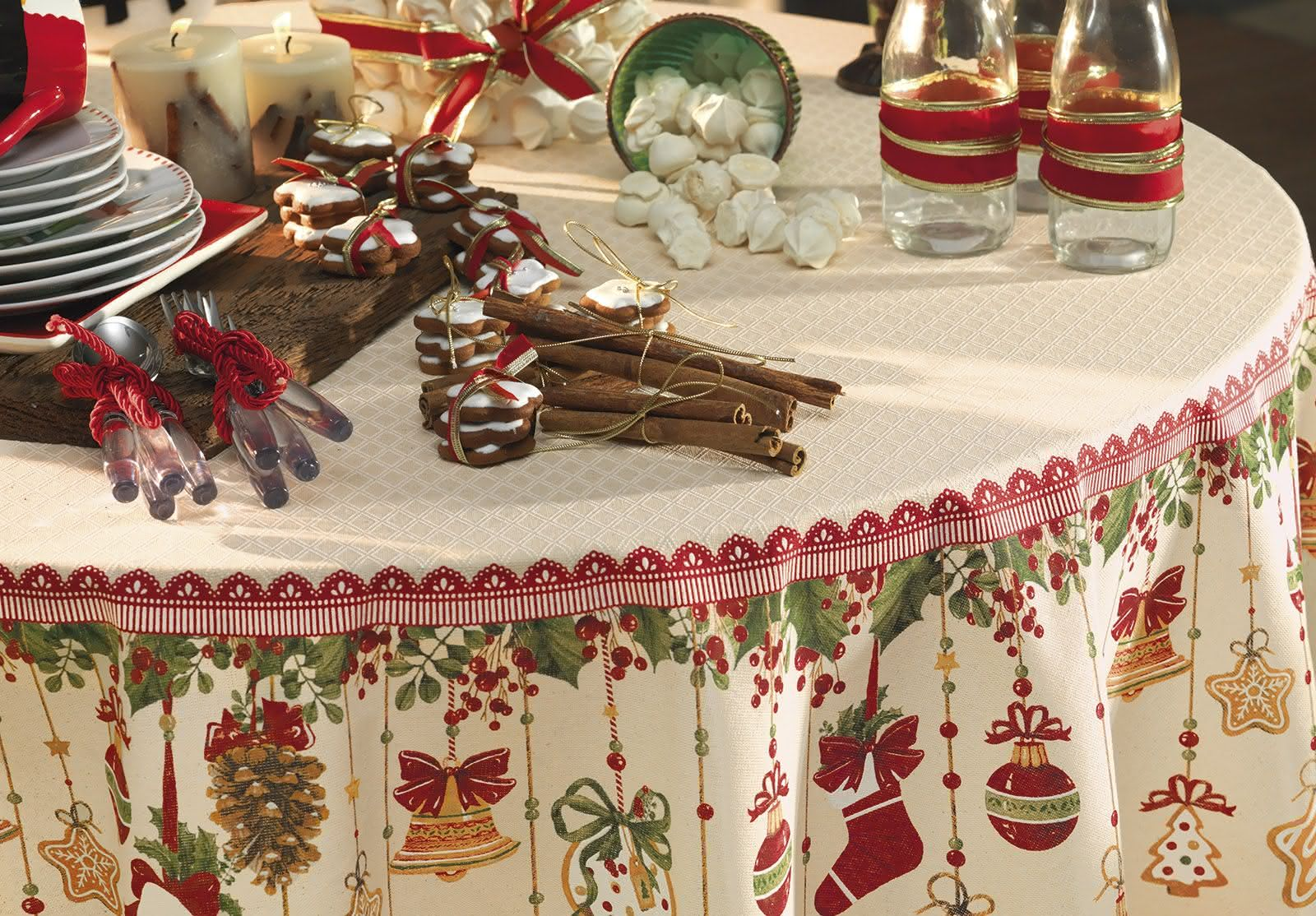 Toalha com desenhos de natal