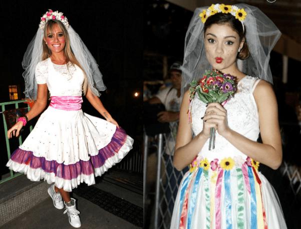 Vestidos de noiva caipira decorados com fitas