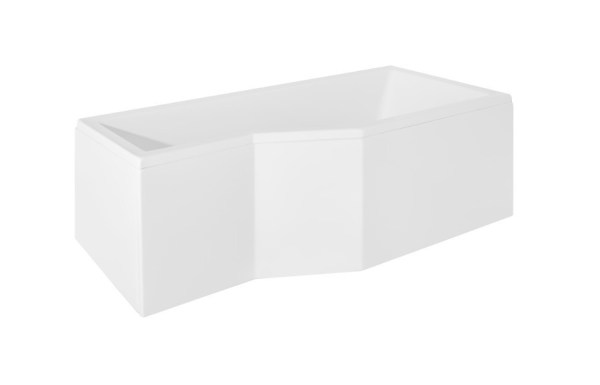 Cada baie asimetrica Besco Integra 150x75cm acril orientare dreapta