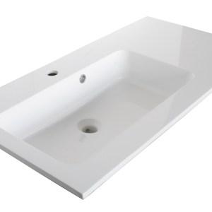 Lavoar Sanotechnik Soho 93x50cm montare pe mobilier compozit alb