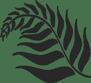Casa Flora's black frond logo