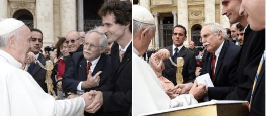 Esc Martin Hudacek con el Papa