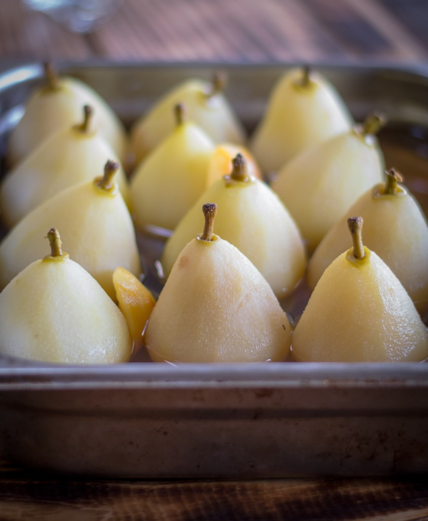 Lemon Poached Pears