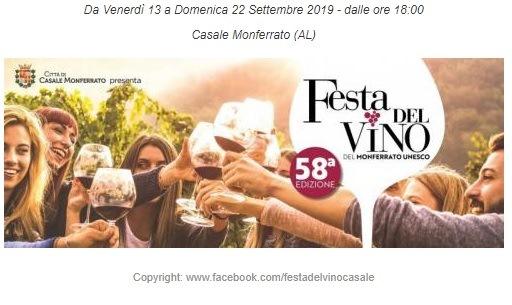FESTA DEL VINO CASALE MONFERRATO 13-22 OTTOBRE 2019