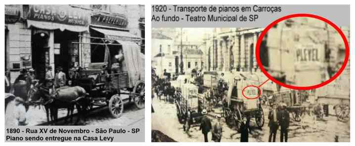 transporte de piano antigamente
