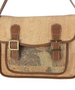 sac bandoulière cartable liège & cuir synthétique