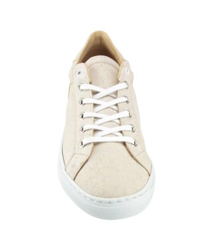 Chaussure sport baskets liege basse lacets blanc tendance