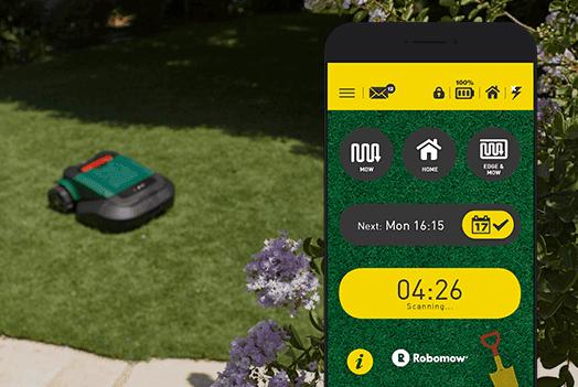 Interagisci da remoto via smartphone, con il tosaerba Robot-Tino di Casali Irrigazione