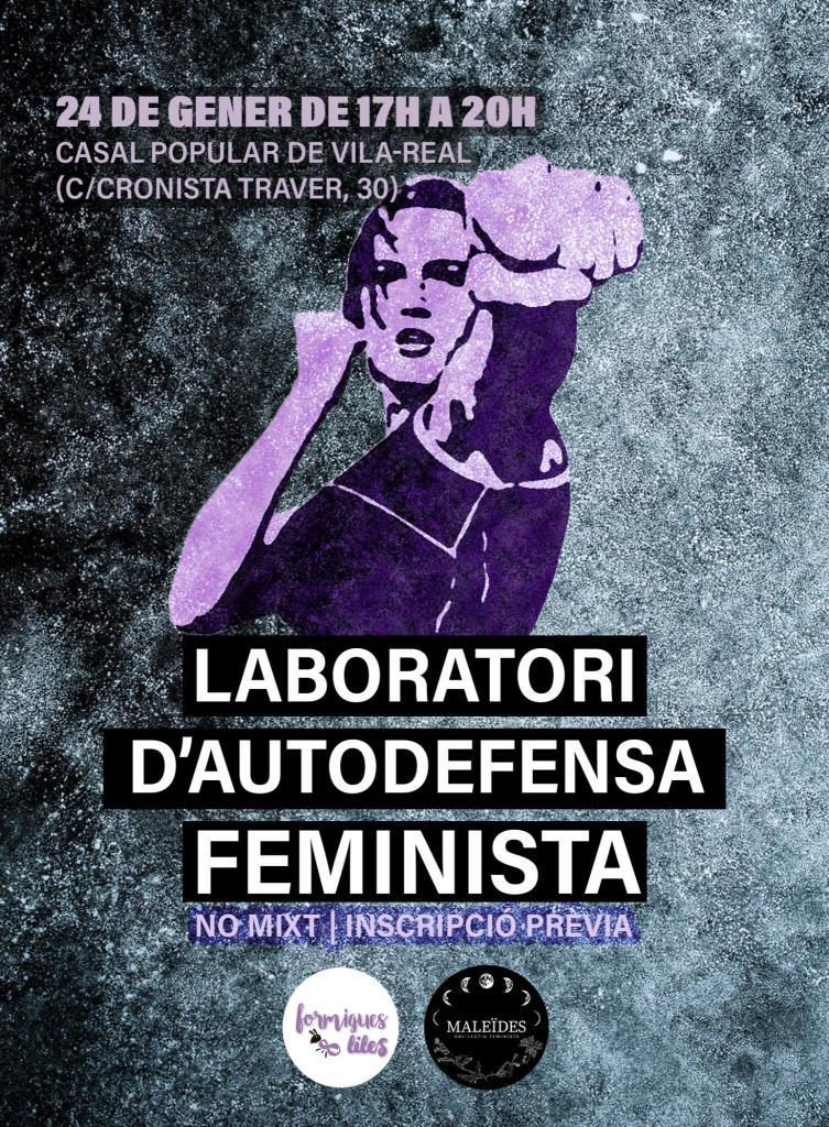 cartell laboratori d'autodefensa feminista