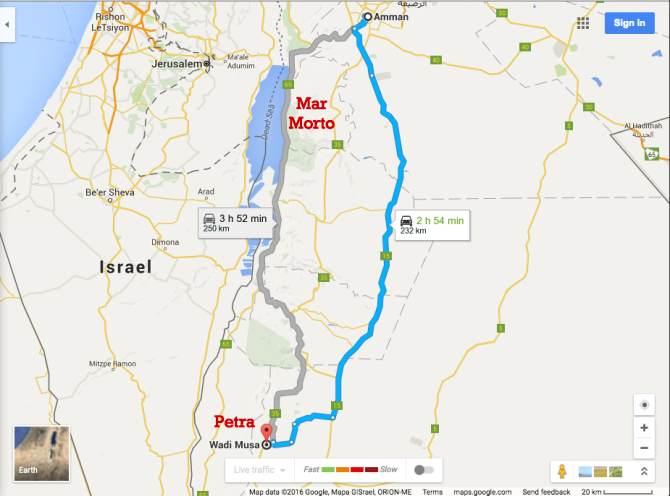 Mapa Petra