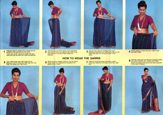 Como usar um sari