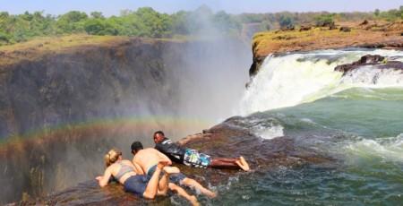 Victoria Falls e a Devil's Pool, na Zâmbia