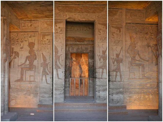 Interior do Templo de Nefertari em Abu Simbel