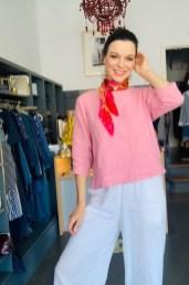 Three quarter sleeve blouse £95