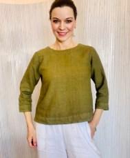 Three quarter sleeve blouse Green £95
