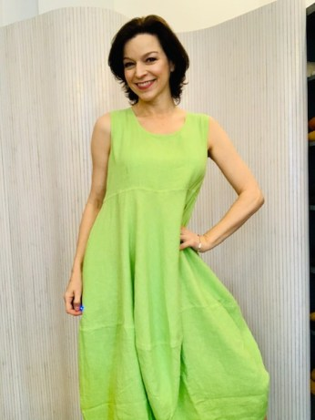 Sleeveless linen dress £149
