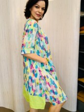 Linen splash dress £165